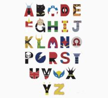 marvel superhero alphabet T-Shirt