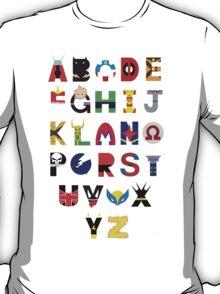 marvel superhero alphabet T-Shirt
