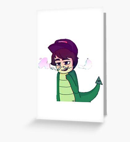 Leafyishere Leafy Reptilian Hiss Sticker Greeting Card
