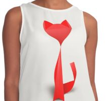 Origami Red Contrast Tank