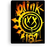 Blink 182 Yellow Fire Canvas Print
