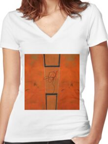 untitled no: 796 Women's Fitted V-Neck T-Shirt