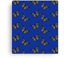 Black and white butterflys Canvas Print