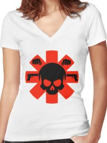 RHCP Women's Fitted V-Neck T-Shirt