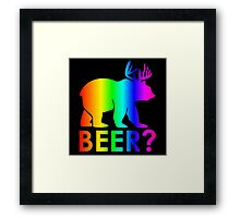 Rainbow Beer Framed Print