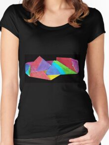 crumpled coloure Women's Fitted Scoop T-Shirt