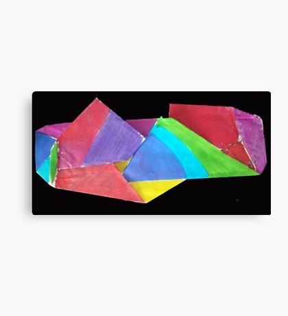 crumpled coloure Canvas Print