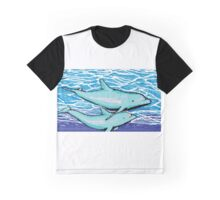 dolphin 8-bit Graphic T-Shirt