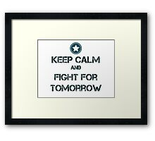 Fight for tomorrow Framed Print
