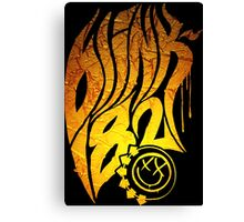Blink 182 yellow Gold Canvas Print