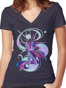 Sparkle In Your Dedication Women's Fitted V-Neck T-Shirt