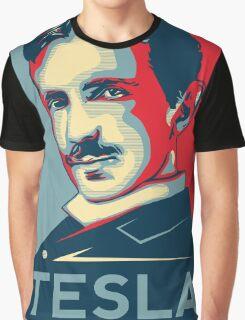 Tesla Poster Graphic T-Shirt