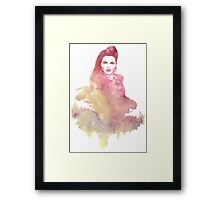 Evil Queen Red Water Color Framed Print