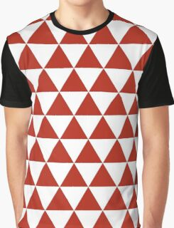 Red triangles,white,red,pattern,modern,trendy,decorative,girly Graphic T-Shirt