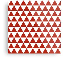 Red triangles,white,red,pattern,modern,trendy,decorative,girly Metal Print