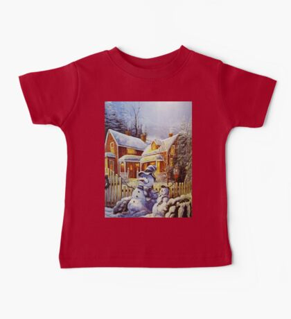 Father & Son Snowman  Baby Tee