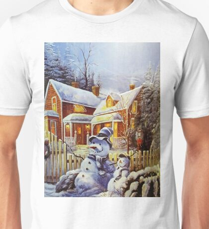 Father & Son Snowman  Unisex T-Shirt