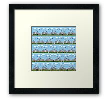 Pink bicycles pattern Framed Print