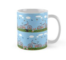 Pink bicycles pattern Mug