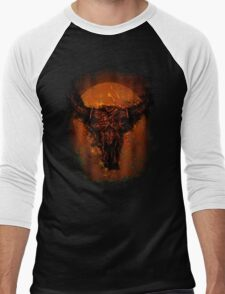 Buffalo Skull Men's Baseball ¾ T-Shirt
