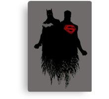 Batman/Superman Canvas Print