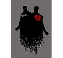 Batman/Superman Photographic Print