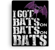 Bats on Bats on Bats Canvas Print
