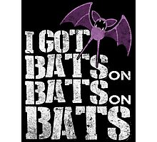Bats on Bats on Bats Photographic Print