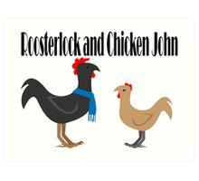 Johnlock in the Hen House Art Print