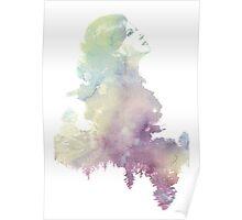 Regina Mills Purple/Green Water Color Poster