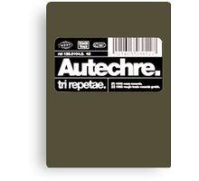 Autechre - Tri Repetae Canvas Print