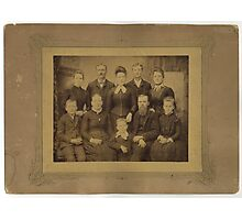 John Steele Finley's Family, Randolph County, IL Photographic Print