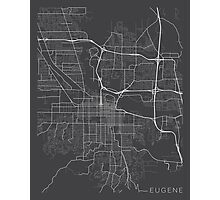 Eugene Map, USA - Gray Photographic Print