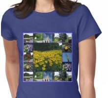 The Garden of the Lord - Floral Collage Womens Fitted T-Shirt