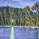 Tropical Night Reflection at Truk Lagoon by JohnKarmouche