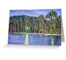 Tropical Night Reflection at Truk Lagoon Greeting Card
