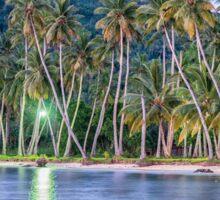 Tropical Night Reflection at Truk Lagoon Sticker