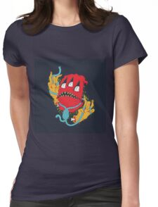 Red monster Womens Fitted T-Shirt