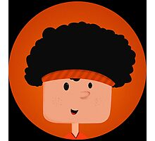 Tennis Player Black Power Character Photographic Print