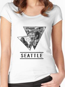 Seattle, Washington Women's Fitted Scoop T-Shirt