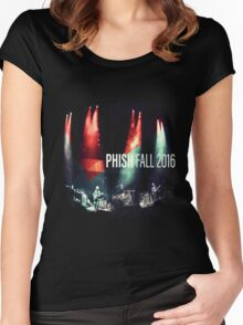 phish fall 2016 black tshirt ampyang Women's Fitted Scoop T-Shirt
