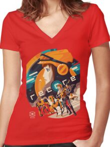 Recore Women's Fitted V-Neck T-Shirt