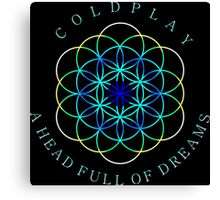 ColdPlay blue Canvas Print