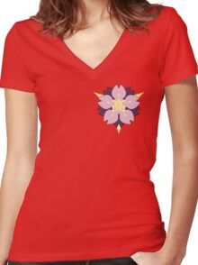 Sakuragaoka High School Emblem Women's Fitted V-Neck T-Shirt