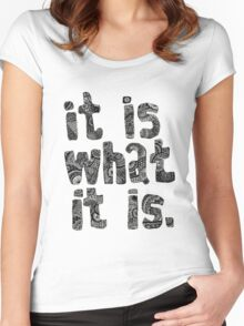 It Is What It Is Women's Fitted Scoop T-Shirt
