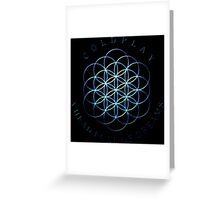 Coldplay Blue Shine Greeting Card