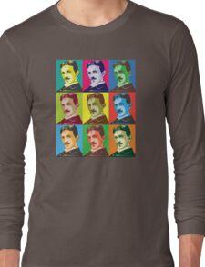 Tesla - Pop Art Long Sleeve T-Shirt