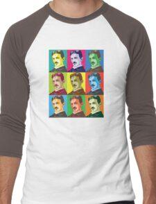 Tesla - Pop Art Men's Baseball ¾ T-Shirt