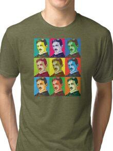 Tesla - Pop Art Tri-blend T-Shirt