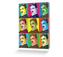 Tesla - Pop Art Greeting Card